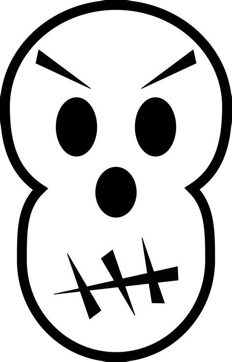 black  white angry skull  halloween vector