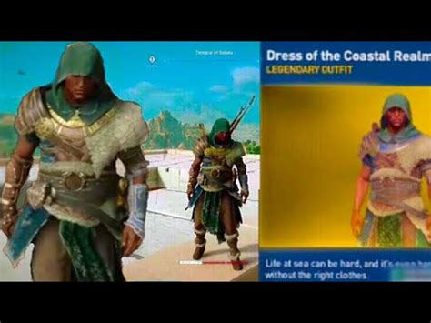 Assassinu2019s Creed Origins Unlocking the Area Completion Outfit - YouTube