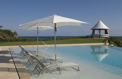 sun shelf with umbrella holder pool mediterranean with