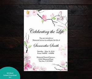 Cherry, Blossoms, Butterfly, Funeral, Announcement, Celebration