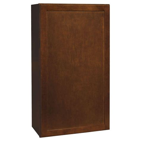 home depot cognac cabinets hton bay shaker assembled 24x42x12 in wall kitchen