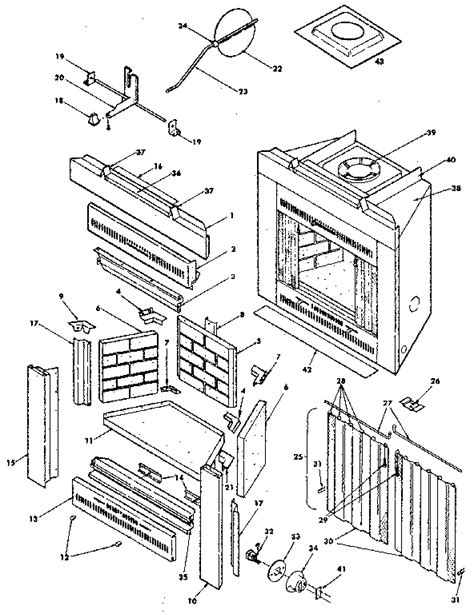 parts of a fireplace 11 best images of fireplace components diagram fireplace