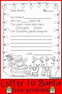 free letter to santa printable kids writing free With toddler letter to santa