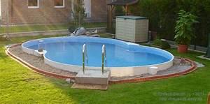 pool aussengestaltung einfach bauen With französischer balkon mit pool im garten einbauen