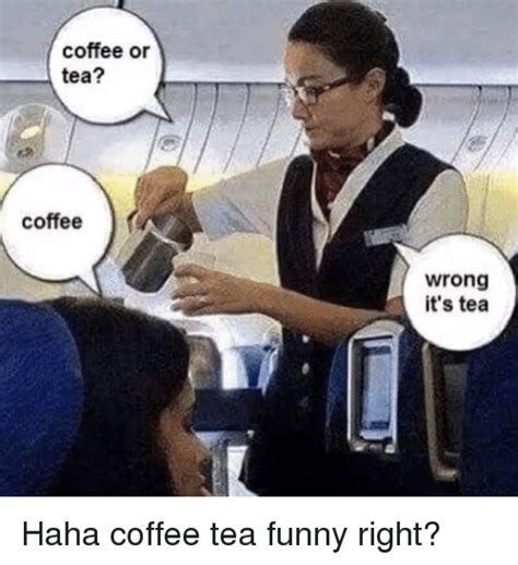 While both drinks have their advantages, both tea enthusiasts and coffee lovers will defend their drink of choice to the end. Coffee or Tea? Coffee Wrong It's Tea | Funny Meme on SIZZLE