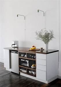 Kitchenette Pour Bureau : mini cuisine studio ikea diy project upgraded ikea ~ Premium-room.com Idées de Décoration