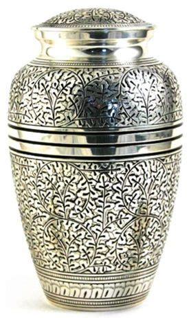 metal cremation urn oak leaf silver price