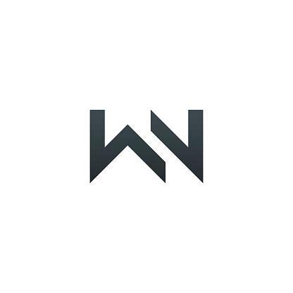 wn monogram   letters   luxury simple minimal  elegant wn logotype design vector