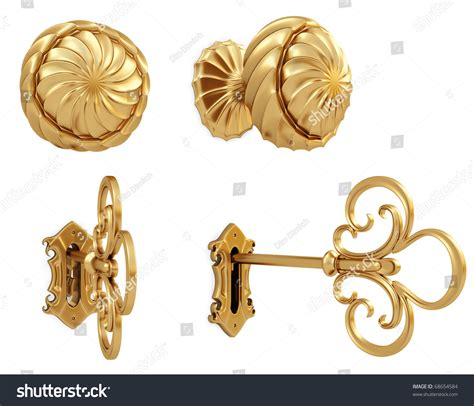 golden door handle golden key isolated stock illustration 68654584 shutterstock