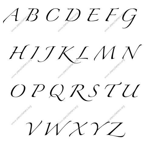 script cursive uppercase lowercase letter stencils