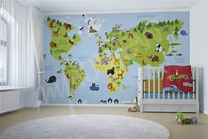 Tapete Weltkarte Kinderzimmer : artikel fototapete weltkarte eine weltkarte f r die kleinen reisenden myloview ~ Sanjose-hotels-ca.com Haus und Dekorationen