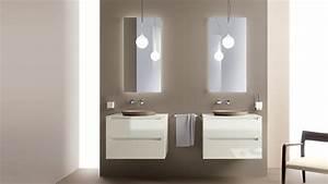 Meuble Double Vasque Suspendu : salle de bain italienne 3 designs exquis par scavolini ~ Melissatoandfro.com Idées de Décoration