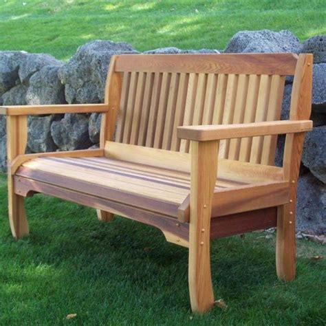 Traditional Benches by Cabbage Hill Cedar Garden Bench Traditional Indoor