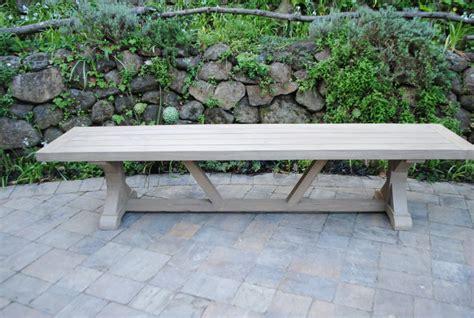 tuscany collection reclaimed teak bench trestle base