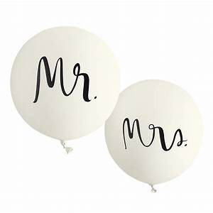 Kate spade ny bridal balloons mr and mrs for Mr and mrs letter balloons