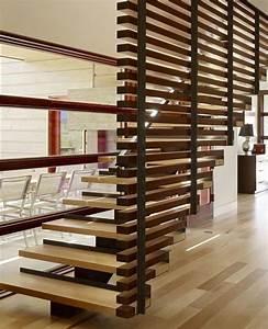 design moderne escalier interieur rampes et garde corps With garde corps escalier interieur design
