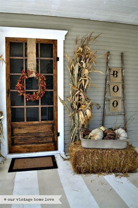front door thanksgiving decorating ideas 57 cozy thanksgiving porch d 233 cor ideas digsdigs