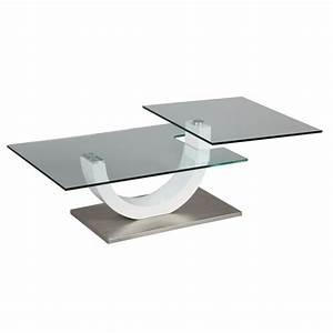 Table Basse Blanc Laqué Ikea : table basse en verre avec plateau pivotant 1263 ~ Teatrodelosmanantiales.com Idées de Décoration