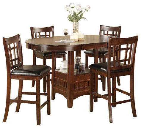 jacksonville storage pub table and 4 chairs set