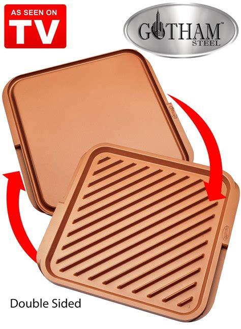 gotham steel xl dual sided grill    tv carolwrightgiftscom
