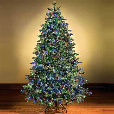 switchable color prelit christmas tree