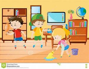 children cleaning classroom clipart - Clipground