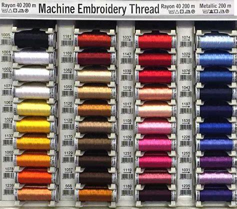 gutermann thread colors g 252 termann sulky embroidery thread color chart