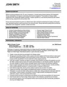 senior accountant resume sle template