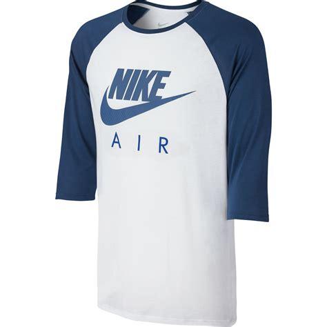 nike air sleeve raglan s t shirt white blue 805227 100