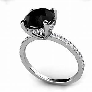 black diamond engagement rings for women wedding With black wedding rings for women