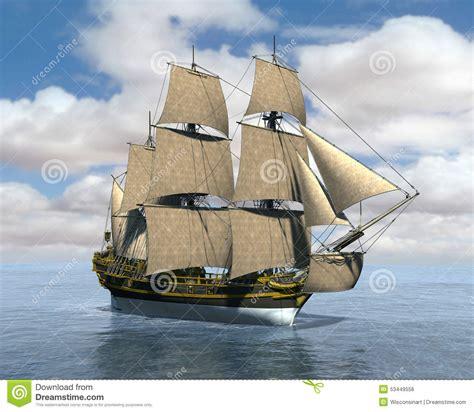 Ship Illustration by Tall Sailing Sea Ship Illustration Stock Illustration