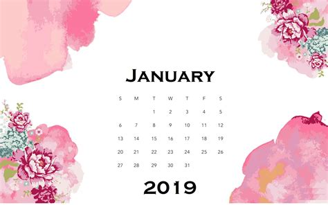 january watercolor calendar wallpaper maxcalendars