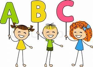 Kleine Rechnung Mit 4 Buchstaben : s e kleine kinder mit abc buchstaben vektorgrafik colourbox ~ Themetempest.com Abrechnung