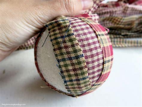 homespun christmas ornaments diy homespun fabric ornament 4 different tutorials