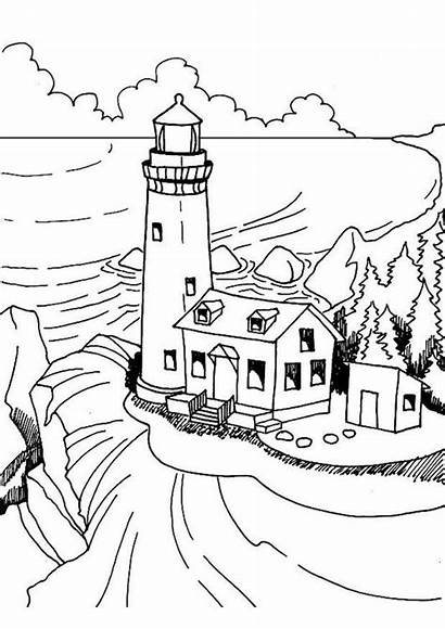 Lighthouse Coloring Pages Lighthouses Adult Patterns Colouring