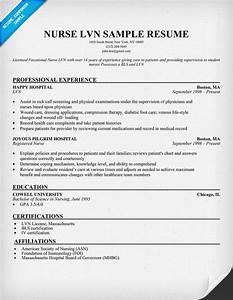 Lvn nurse resume sample for the love of nursing for Lvn resume sample