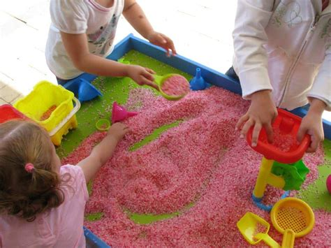 scented rice sensory play learning  kids