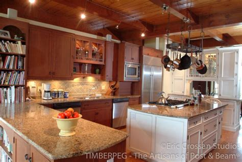 mismatched kitchen cabinets mismatched cabinets timberpeg timber frame post and beam 4168
