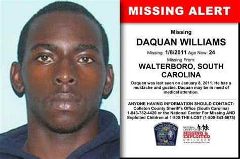 DAQUAN WILLIAMS, Age Now: 24, Missing: 01/08/2011. Missing ...