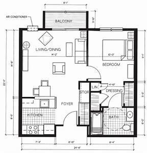 Kleine Holzhäuser Grundrisse : 584 sf created for retirement community apartment units add some windows and voila tiny houses ~ Bigdaddyawards.com Haus und Dekorationen