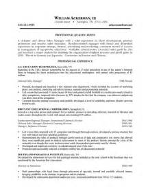 outside sales representative resume objective outside sales resume exle resume writing exles