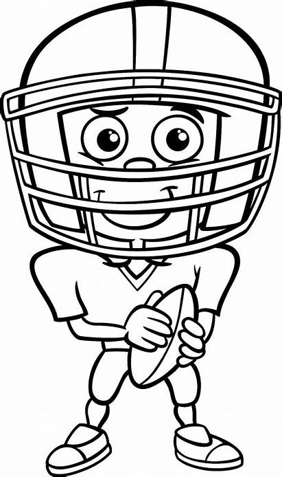 Coloring Football Pages Sports Player Clipart Playing