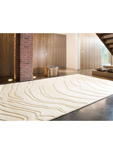 tapis grand tapis salon decoratif create 1 blanc de la collection ligne