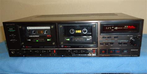 Sony Tcwr930 Double Cassette Deck,w New Belts Japanese