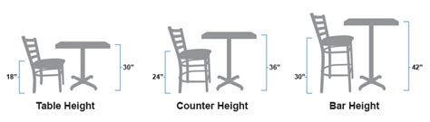 kitchen island light height how are restaurant tables chairs bar stools
