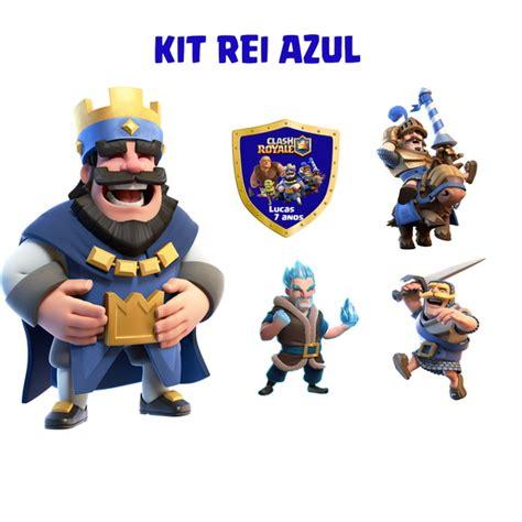 KIT CLASH ROYALE Rei Azul mdf no Elo7 Display Happy