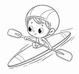 Coloring Pages Canoe Popular sketch template
