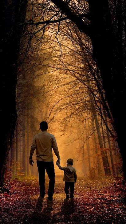 Father Son Iphone Child Forest Asperger Padres