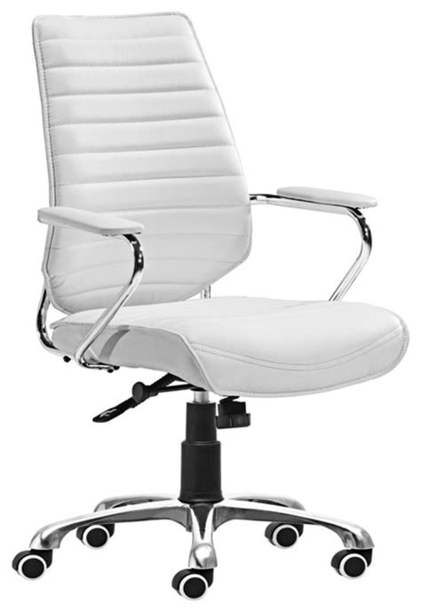 zuo enterprise collection white office chair