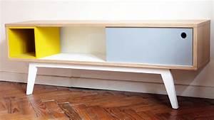 Console Ameublement : console basse meuble tv grise et jaune ~ Melissatoandfro.com Idées de Décoration